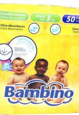 Pañales Bambino Recién Nacido T1 50 uds