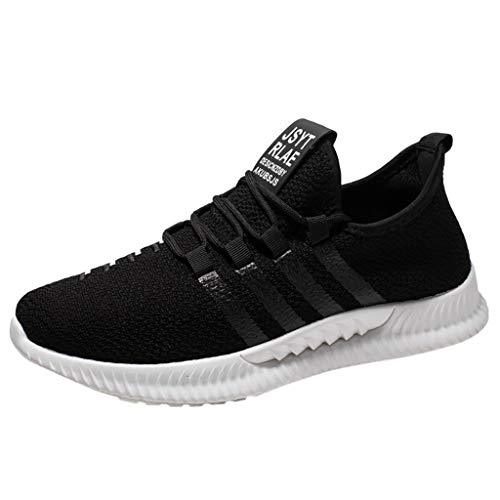(JUSTWIN Men Casual Sneakers Shoes Breathable Lace Up Mesh Lightweight Men's Sports Student Leisure Running Sneaker )