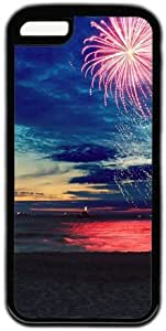 Beach Sunset Glow Firework Theme Case For Htc One M9 Cover