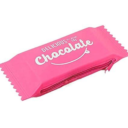 TOOGOO Kawaii Estuches de LáPices Silicona Chocolate Candy ...