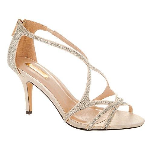 Shoes Donna toe Miss Beige Peep Diva 85qOw
