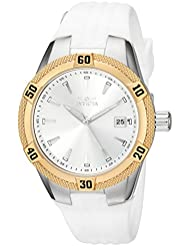 Invicta Womens Angel Quartz Stainless Steel and Silicone Casual Watch, Color:White (Model: 24597)