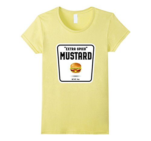 Womens Easy Halloween Costume Ketchup Mustard Relish Couples tees Small Lemon