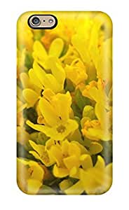 Fashion Tpu Case For Iphone 6- Yellow Flowers Defender Case Cover