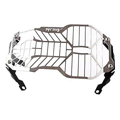 GZYF Motorcycle Headlight Headlamp Protector Guard For BMW R1200GS/ADV 13 14 Silver