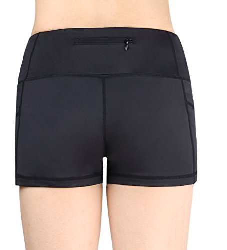 Women's Active Fitness Yoga Running Exercise Workout Shorts Side Pocket