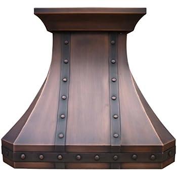 Amazon Com Copper Best H3 302127s Copper Range Hood With