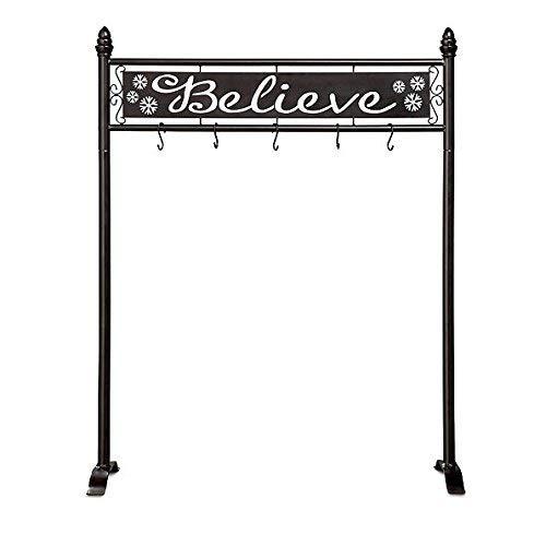 DermaPAD Believe Christmas Stocking Holder Stand (Christmas Stand Metal Stocking)