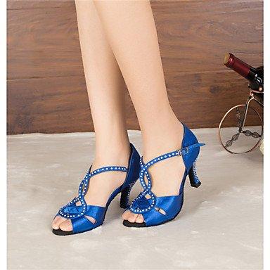 Latino Azul Tacón de Personalizables baile Negro Samba Zapatos Zapatos de Salsa black Jazz Swing wt47PIq