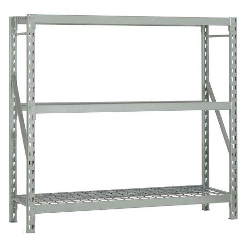 Edsal ERX723672S Heavy Duty Steel Welded Frame 3 Level Starter Bulk Storage Rack with NSF Zinc Plated Wire Decking, 1500 lbs Capacity, 72
