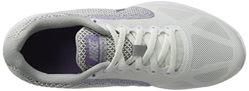 Nike Revolution 3, Zapatillas de Entrenamiento para Mujer Negro (White/purple Earth-wolf Grey)