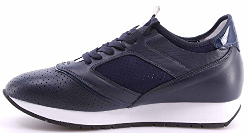 Zapatos Hombres Sneakers BIKKEMBERGS BKE 108692 Runner Leather Cuero Azul Italy