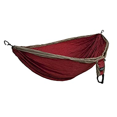 Eagles Nest Outfitters - Double Deluxe Hammock, Khaki/Maroon (FFP)