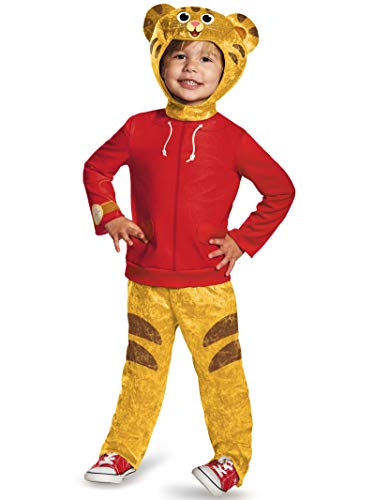Why Costumes On Halloween (Daniel Tiger's Neighborhood Daniel Tiger Classic Toddler Costume,)