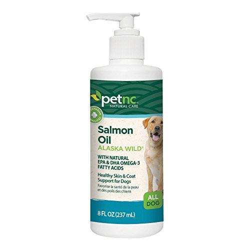 PetNC Natural Care Alaska Wild Salmon Oil for Dogs, 8-Ounce