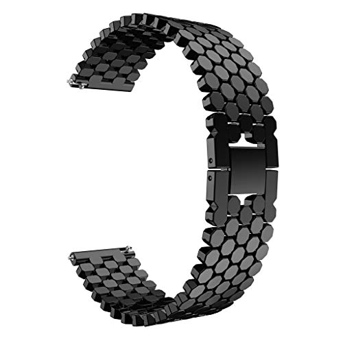 Unique Stainless Steel Watch Band Replacement Strap for Huawei Watch GT ()