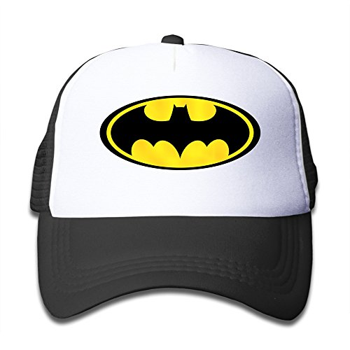 Price comparison product image Matthe Youth Children Girl Boy Kids Element Printed Pattern Batman Unisex Half Mesh Adjustable Baseball Cap Hat Snapback Black