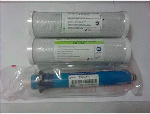 GE TFM-18 18 GPD RO Reverse Osmosis GE Membrane w/ Ca Ware Pre & Post Filters FX12M Smart Water Compatible by CFS