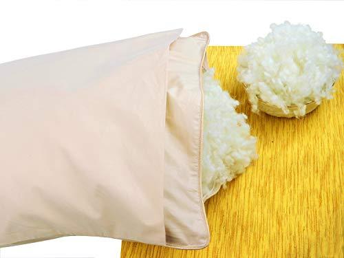 Organic Toddler Wool Pillow with Pillowcase. Woolmark & Oeko Certified. 14x18-in ()