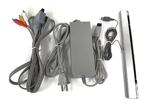 Wii Cord Set Ac Power Supply / Av Adapter / Sensor Bar Cable Bonus Gamecube Controller by Castlelake Products