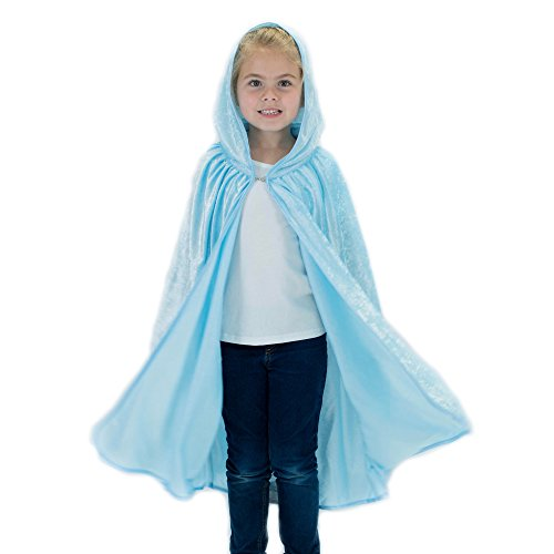 Kids Cosplay Hooded Cloak Cape - Light Blue