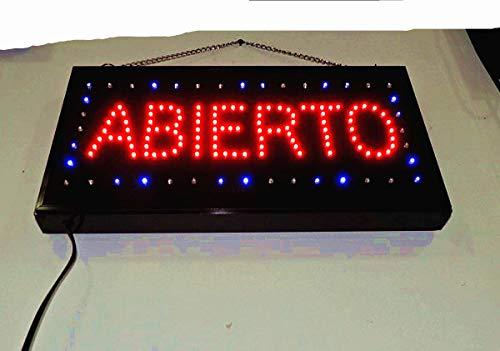 Letrero cartel Panel LED iluminacion negocio abierto open bar locutorio restaurante peluquería cafe (ABIERTO-V)