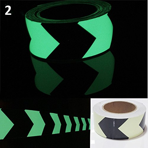 Luminous Glow In The Dark Tape Safety Self-adhesive Stage Home Design Decals (5cm x 5m, Green Arrow) by bearfire (Image #4)