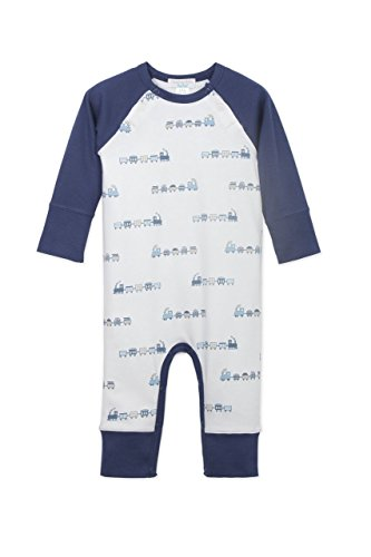 Feather Baby Boys Clothes Pima Cotton Long Sailor Sleeve Jumpsuit Coverall One-Piece (Sailor Suit Bubble)