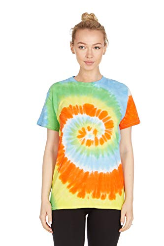 Krazy Tees Tie Dye T-Shirt, Spring Time, Small