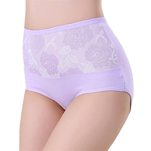Also Esay Women High Waist Cotton Panties Healthy Lingerie (Large, Light - San The Row Jose