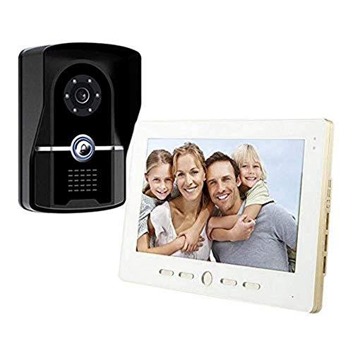 Lqqml Video doorbell Video Doorbell - Video Intercom -10inch Monitor Smart Video Door Phone Kit/ 1 Camera+ 1-Monitor/Night Vision/Camera Angle Adjustable/Image Resolution: 1024x840