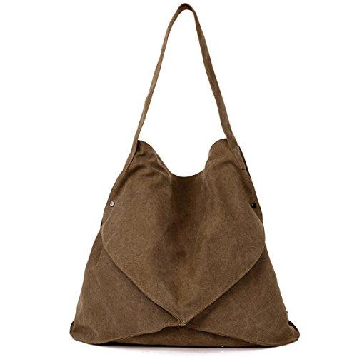Frauen Jahrgang Leinwand Schulter Aktentasche Messenger Handtasche Einkaufen Geschäft Tasche ,C-OneSize
