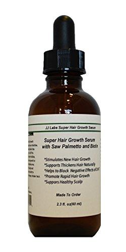 Super Hair Growth Serum with Saw Palmetto, Biotin, Unisex Hair Loss Treatments (2.3oz, Dropper Dispenser)