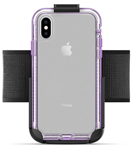 Armband for Lifeproof Next Case iPhone X - Encased (Non Slip) Fully Adjustable Lightweight Gym Sports Band, Fits All arm Sizes XS-XXL (case not Included)