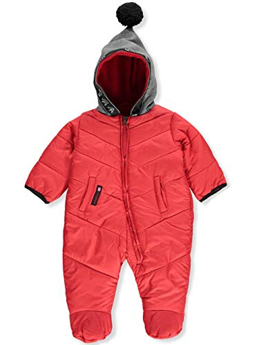 CANADA WEATHER GEAR Baby Infant 1-Piece Snowsuit - red, 3-6 ()