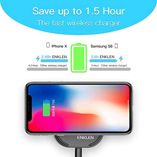 Fast Wireless Charger Samsung Galaxy Note 9//S9//S9 Plus//Note 8//S8 and All Devices QC 3.0 Adapter Included Qi-Certified 10W Wireless Charger Compatible with iPhone Xs MAX//XR//XS//8//8 Plus