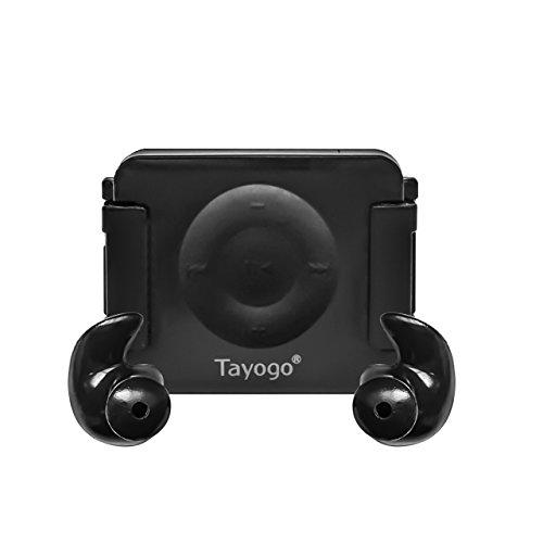 Tayogo iPod Shuffle Case, iPod Shuffle 4th Generation 100% Waterproof Case for Swimming, Surfing, Boating, Running, etc.-Black
