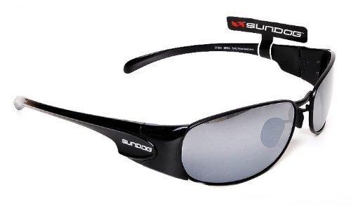 a979b427753b6 Sundog Bend Polarised Golf Sunglasses Black Frame with Smoke ...