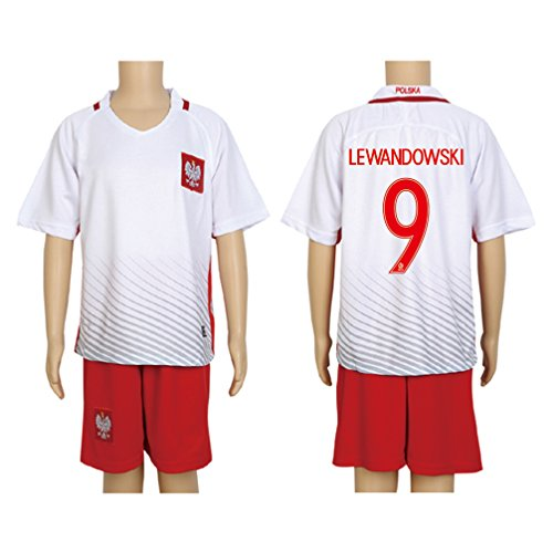 2016-uefa-euro-9-lewandowski-red-home-kids-soccer-jersey-short-kit-set