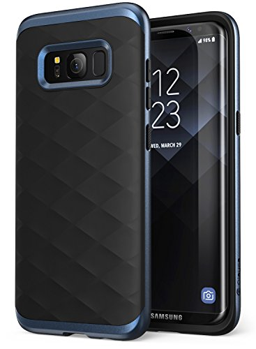 Galaxy S8+ Plus Case, Clayco [Helios Series] Premium Hybrid Protective Case for Samsung Galaxy S8+ (Blue/Black)