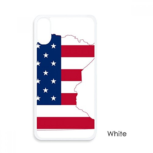 Minnesota USA Map Stars Stripes Flag Shape For iPhone X Cases White Phonecase Apple Cover Case Gift