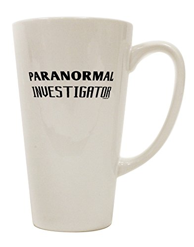 TooLoud Paranormal Investigator 16 Ounce Conical Latte Coffee Mug by TooLoud