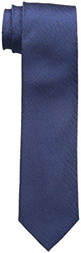 Calvin Klein Men's Croco Solid Slim Tie, Navy, One Size