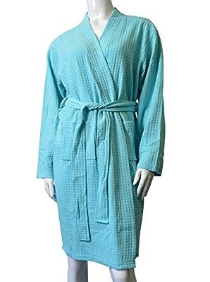 Womens Robe Kimono Waffle Spa Bathrobe Lightweight Hotel Sleepwear By Cece
