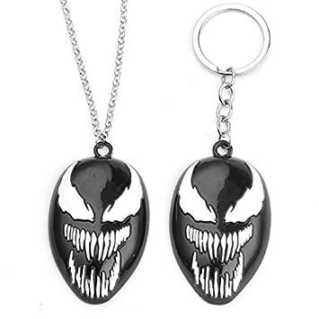 2 piezas - Venom Llavero Venom Negro Spiderman (Necklace + ...