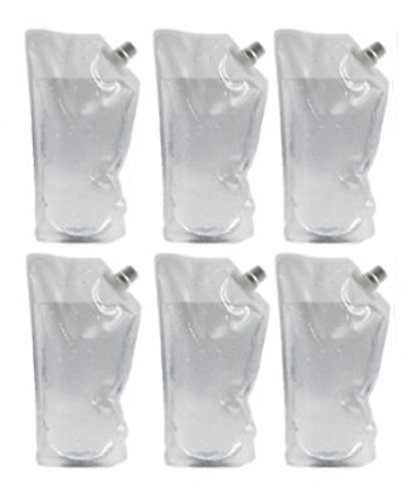 Concealable Undetectable Flask Kit for Cruise (6x 32oz flasks, funnel included) ()