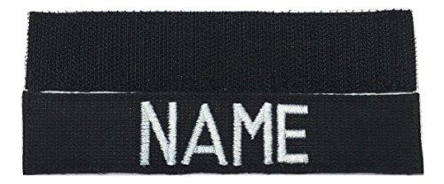 Black Name Tape with Fastener, Custom Tape Police , Customized ()