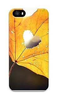 iPhone 5 5S Case Golden Autumn Leaves (love) 3D Custom iPhone 5 5S Case Cover
