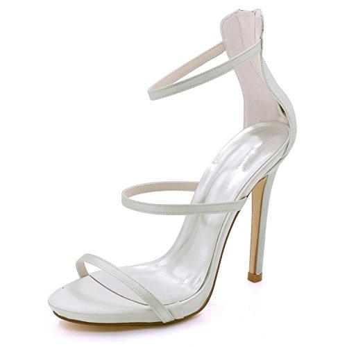 L Alto 8 7216 Con Tacco Court Da Ivory Sandali Donna yc Spillo 05 A Sposa Prom rxOYf4rwP