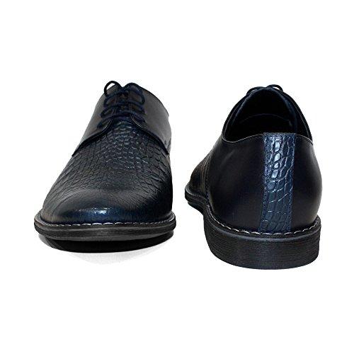 De Lacer Modello Bleu Hommes Gaufré Cuir Pour Handmade Des Chaussures Indigo Vachette Marine Oxfords Italiennes 6xZwq6CPr
